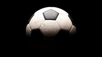 Soccer ball in shadows