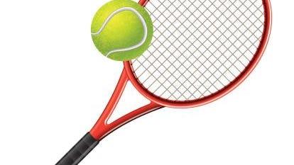 Tennis racket and ball vector illustration