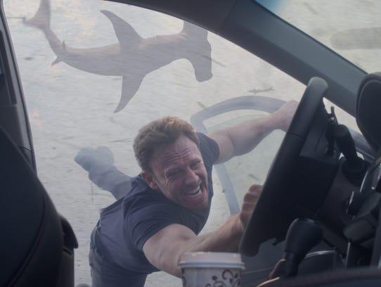 Ian Ziering as Fin Shepard appears in a scene from