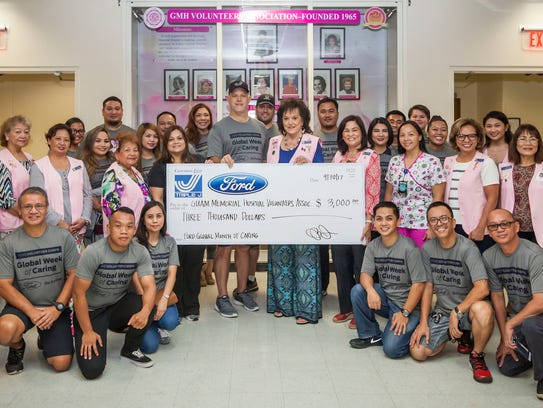 Triple J Ford donated $3,000 to the Guam Memorial Hospital