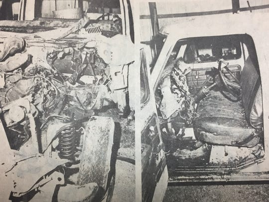 An explosive device in this 1974 Ford pick-up truck claimed the life of it's driver, Edward W. Seats in January 1980. Federal agents from the Alcohol, Tobacco, and Firearms division combed the truck for clues after the incident.
