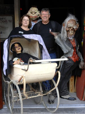 Fear City Nights owners Linda and Russell Paul are preparing to scare visitors during a past haunted house experience.