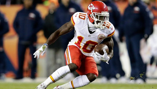 In Week 12, the Chiefs' Tyreek Hill became the first player since Gale Sayers in 1965 to score a touchdown rushing, receiving and on a kick return in the same game.