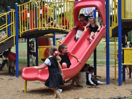 Kindergartners at Cherokee Elementary School during