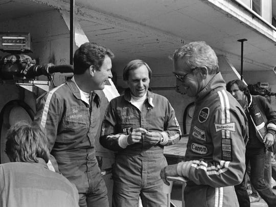 The Whittingtons (Don, left) at LeMans, 1979, with