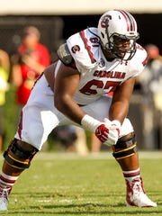 Offensive lineman Ronald Patrick, pictured while at the University of South Carolina. Courtesy of University of South Carolina