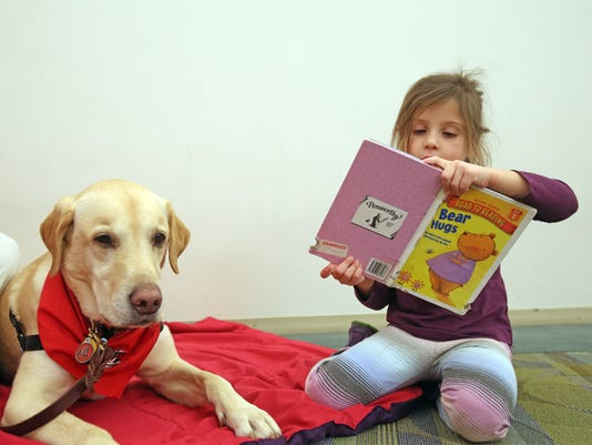 Therapy Dogs Reading