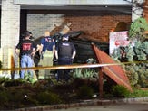 Photos: Car crashes into building in East Rutherford