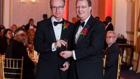 Dr. David Landers, vice chair, Heart & Vascular Hospital, Hackensack Meridian Health Hackensack University Medical Center with Dr. Joseph Parrillo