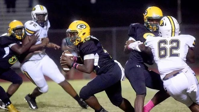 Haynesville's Cam'ron Jackson (72) has received an offer from Alabama.