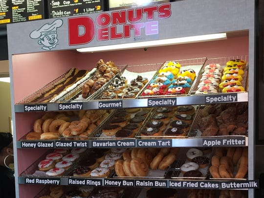 The 1872 Cafe serves doughnuts from Donuts Delite.