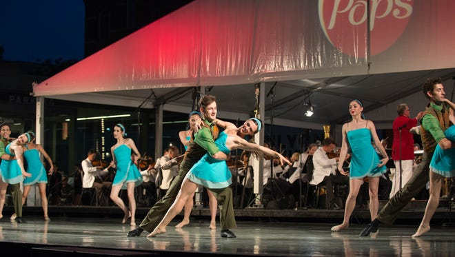 Cincinnati Ballet's Second Company will again join the Pops, as they did in this number last year.