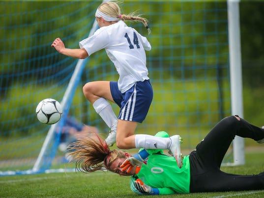 Class 1A girls' state soccer tournament dav assumption IC regina Asusmption won 1-0 over REgina