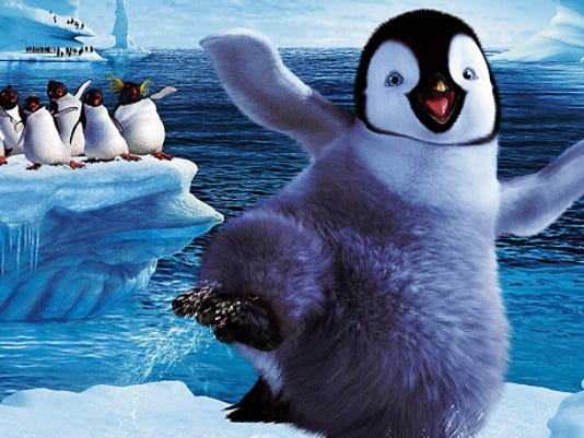 """The popular animated film """"Happy Feet"""" will be shown at dusk (about 8:30 p.m.) Saturday on a giant state-of-the-art screen at McKelligon Canyon Amphitheater. The showing is part of the annual Movies in the Canyon series. Admission is free."""
