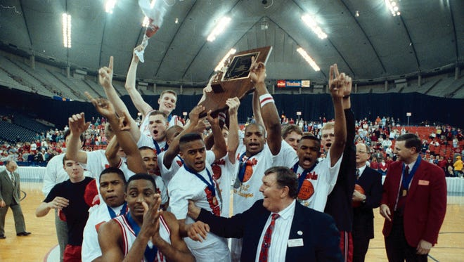 Richmond High School's boys basketball team won the state championship in 1992.