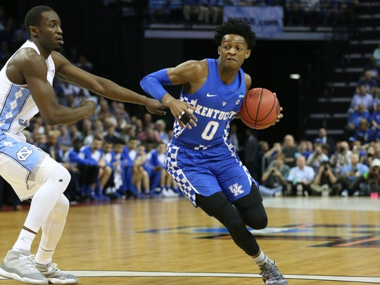 Speed with length at the point , De'Aaron Fox outplayed Lonzo Ball in their head-to-head matchup in the NCAA Tournament.