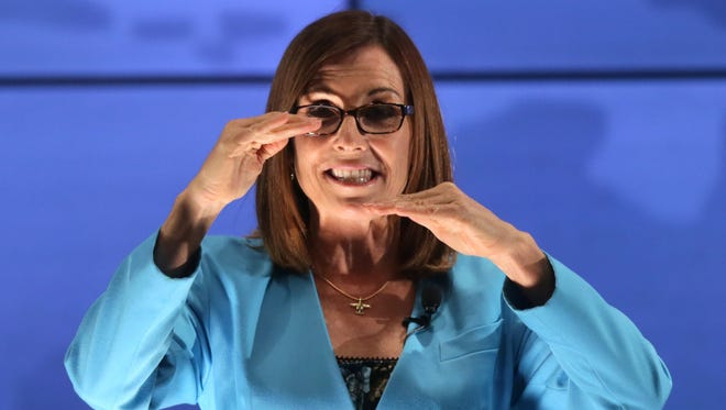 U.S. Rep. Martha McSally, R-Ariz., talks about the narrow defeat of an amendment in the U.S. House that would have affected production of the AMRAAM missile at Raytheon in Tucson, on June 2, 2016.