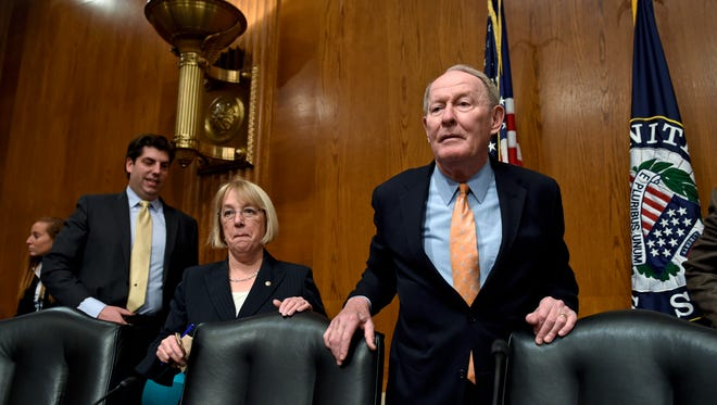 Sen. Lamar Alexander, R-Tenn., chairman of the Senate Health, Education, Labor and Pensions Committee (right), and the committee's ranking member, Sen. Patty Murray, D-Wash.