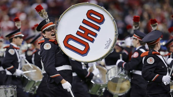 Ohio State's band performs during the Sugar Bowl against Alabama in January.