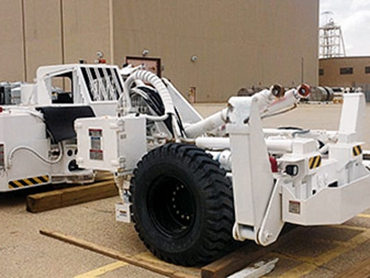 The hybrid bolting machine will help install bolts into the roof and walls of the underground.