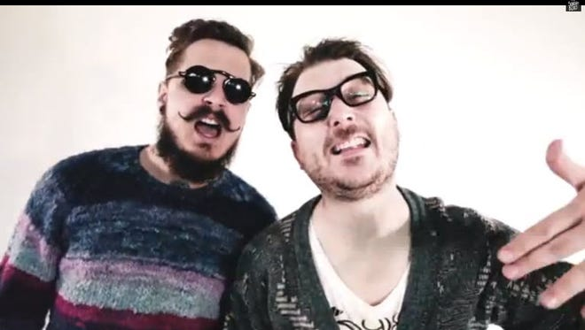 his is a still from the web video 'Hipsters & Hashtags,' on the Channel: Derick Watts & the Sunday Blues. Comedy duo Derick Watts & The Sunday Blues make fun of hipsters.