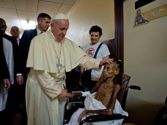AP APTOPIX AFRICA POPE CENTRAL AFRICAN REPUBLIC I CAF