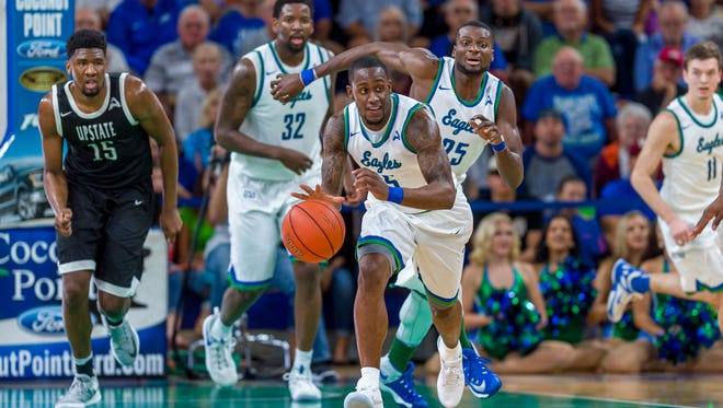 Zach Johnson and the Eagles look to get back into ASUN stride against NJIT in Alico Arena on Saturday night after blowing their conference home opener, 62-60, to USC Upstate on Thursday night.