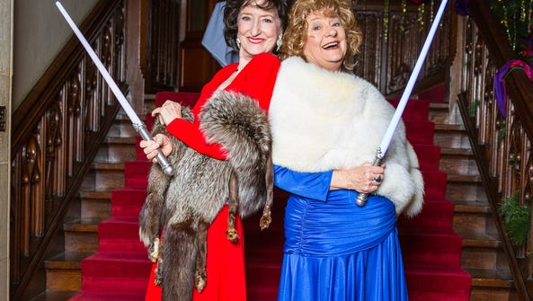 Ruth Crawford and Mary Gant in Meadow Brook Theatre's