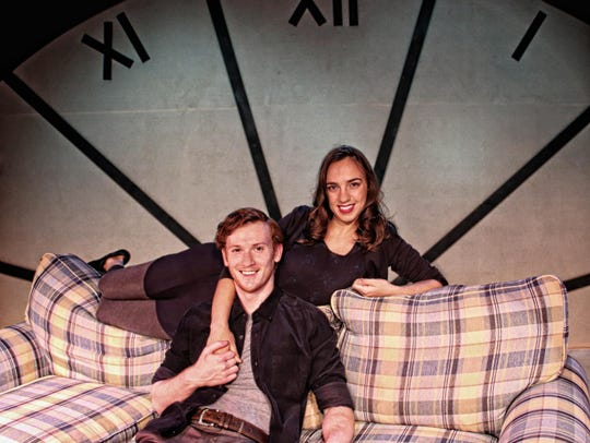 "Andrew Simek and Emily Goodell starred in the Clocktower Theater Company production of ""The Last Five Years"" at Cider Mill Stage in Endicott in October of 2018."