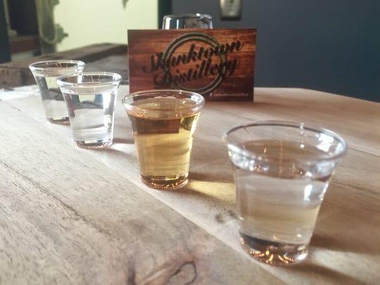 A tasting sample at Skunktown Distillery.