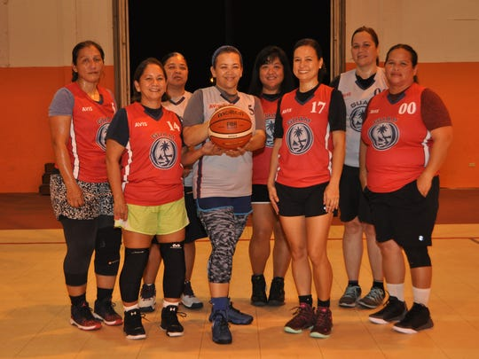 GWMBA's team representing the 40 age group is one of the two women's teams to participate in the World Masters Games (WMG) from April 21 to 30 in New Zealand. Pictured from left, back row: Eva Adai, Arleen Sahagon, Ester Rios and Tricia Lizama. From left, front row: Eileen Rivera, Carol Riveral Cruz, Rowena Dimla and Joanne Aguon Ige. Not in photo: Flori Sanchez.