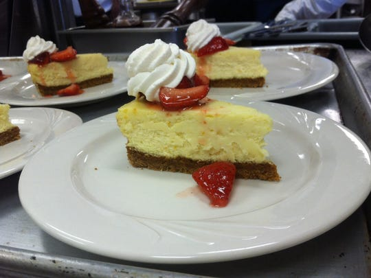 Christina Morales prepared this cheesecake during her