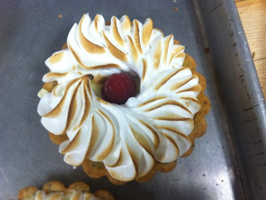 Christina Morales prepared this tart during her studies