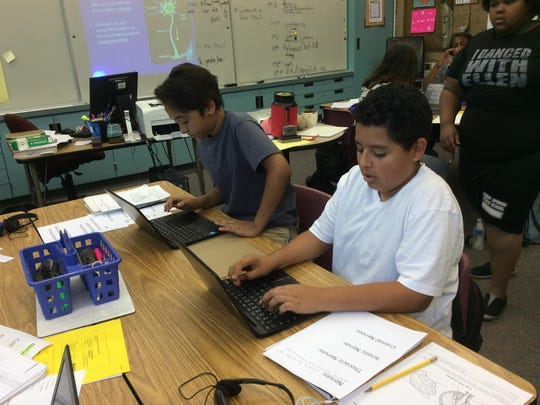 Students in Darci Busk's independent study class served as the pilot program for the Desert Learning Academy.
