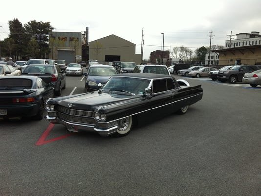 Anthony Lerew's 1964 Cadillac stood out in the Santander Stadium parking lot this spring.