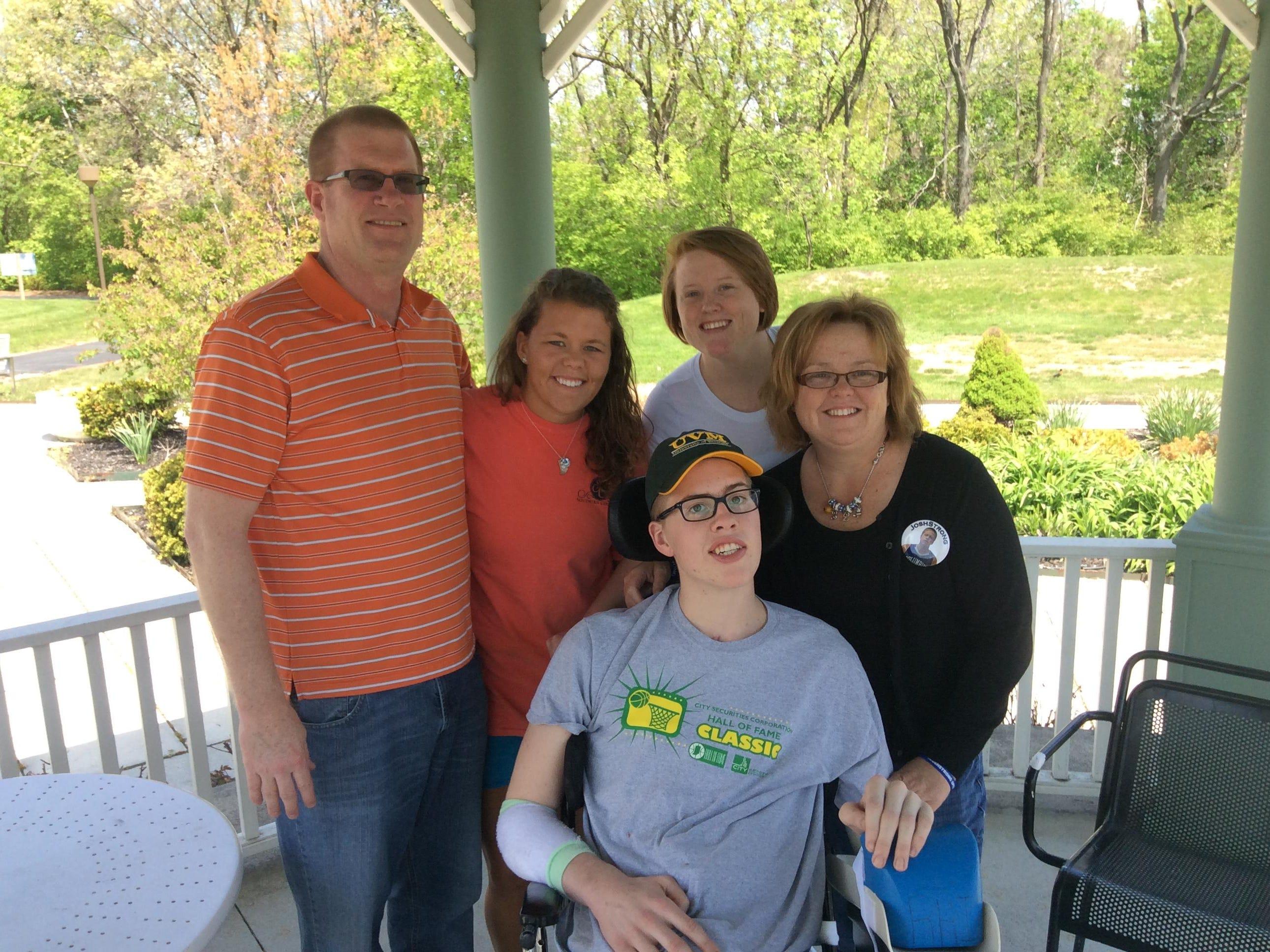 Josh Speidel with his family.