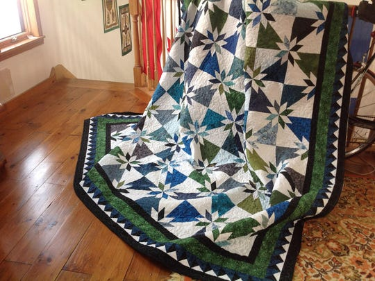 This handcrafted quilt will be auctioned off on Sheldon Old Home Days.