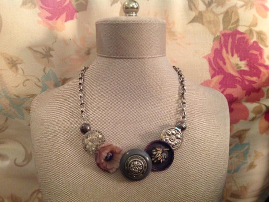 Necklace by Mary Beth Mead, who is showing her jewelry in the Door County Wearable Art Show on Oct. 1-2.