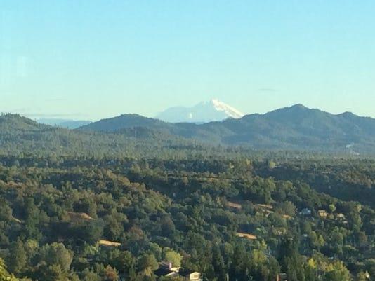 Mt. Shasta from west Redding