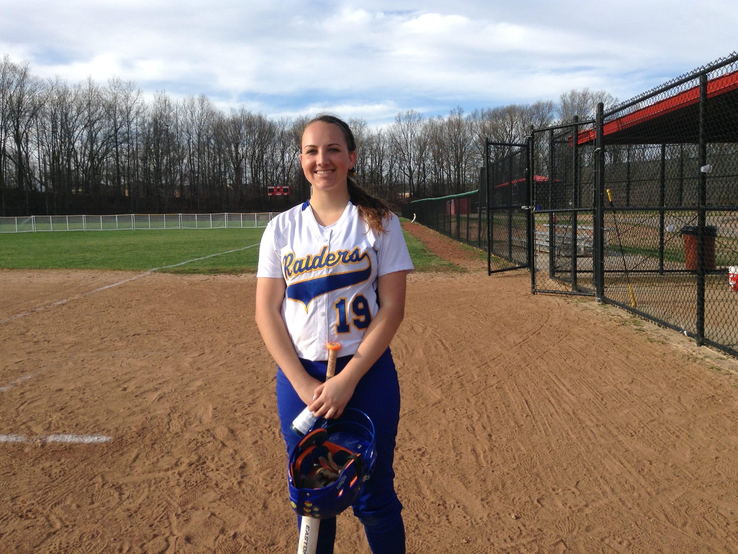 North Brunswick senior third baseman Rebecca Colandrea is this week's Home News Tribune Player of the Week