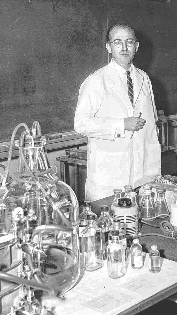 Dr. Jonas Salk, who developed the first polio vaccine