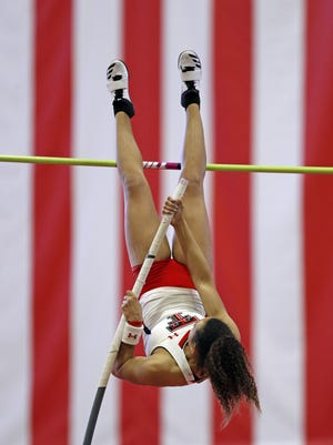 Texas Tech's Chinne Okoronkwo, an all-American and three-time Big 12 champion in the pole vault, is among a high percentage of Tech seniors who plan to return for an extra year. The NCAA in late March effectively granted a redshirt to all spring-sports athletes whose seasons were canceled or cut short in response to the COVID-19 outbreak.