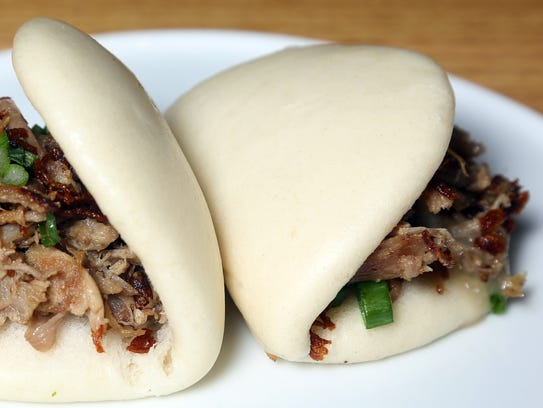 Duck confit buns at Otaku Ramen.