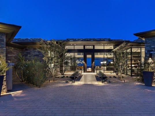 Luxury Homes M Scottsdale Mansion Has Foot Lap Pool - Luxury homes in scottsdale az