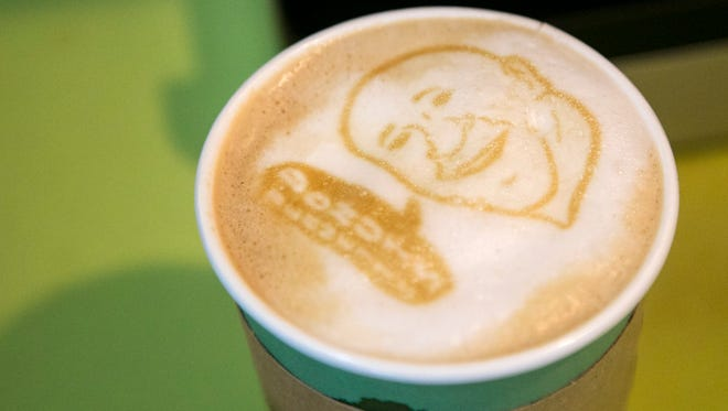 BennettÕs Fresh Roast now puts fun art on their lattes. Customers can also upload their own custom images using the Coffe Ripples app.