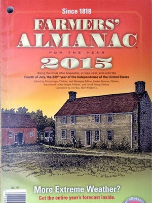The 2015 edition of the Farmers' Almanac.