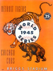 The cover of the 1945 World Series program.
