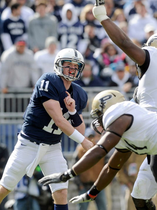 A glance back: Matt McGloin beat the Boilermakers in 2011 with only half of his eyesight after taking a hard hit to the head.