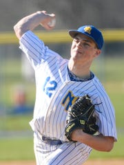 Northern Lebanon senior Isaac Wengert delivers a pitch