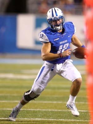 MTSU's quarterback Brent Stockstill (12) is one of the nation's top quarterbacks statistically.